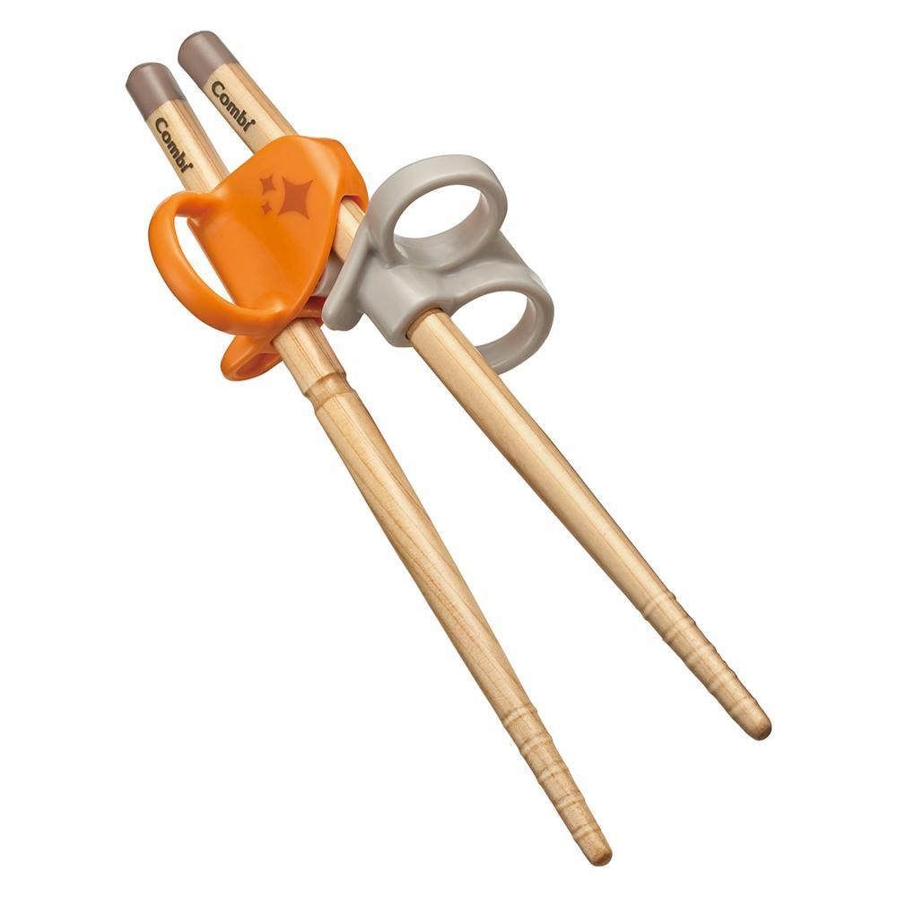 付与 3ステップで長く使える こどものためのおはし Combi 新着セール コンビ はじめておはし 木箸 保育 教育 オレンジ 育児 左手用 OR