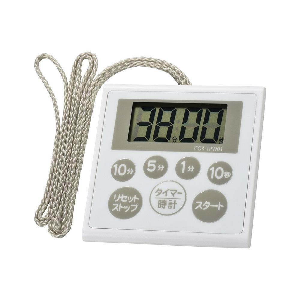 汚れても洗える! OHM 時計付き防水タイマー COK-TPW01
