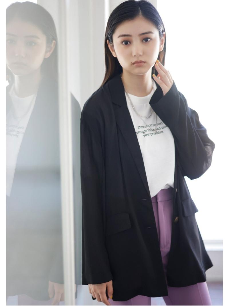 トラスト INGNI_staffrecITM_0706 INGNI レディース コート ジャケット イング SALE 79%OFF 楊柳シアーテーラー RBA_E カーキ ブラック テーラードジャケット JK 割引 Fashion Rakuten グレー