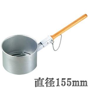 ジャンボ火起こし 小(直径155mm)一発着火炭おこし・鉄鋳物目皿付・木柄