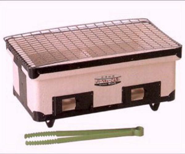 キンカの珪藻土 角型ワイドコンロ(七輪) B3W410×D235×H180mmアウトドアでのバーベキューに最適!炭火で美味しさUP