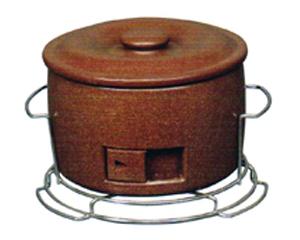 キンカの珪藻土 コンロン君 木炭コンロ(七輪)SP-1直径270×高さ180mm七輪と火消し壺が一緒になった家庭用木炭コンロ