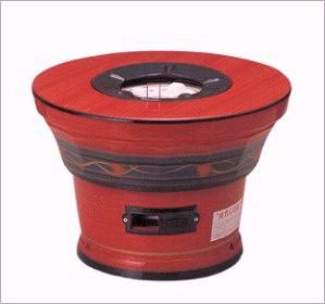 【送料無料】キンカの珪藻土・レンタン火鉢(カバーのみ)S5型(赤)直径460×高さ330mmなつかしいぬくもりの火を