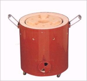 【送料無料】キンカの珪藻土・鉄板巻コンロ(七輪)5号 R7-1直径260×高さ300mmなつかしいぬくもりの火を【代引・同梱不可】