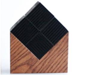 CHIKUNO CUBE HOUSE(チクノキューブ ハウス) ブラウン(大)竹炭でできた、スイッチのない空気清浄器ナチュラル・スタイリッシュ・エコ(CUB-H4BR)