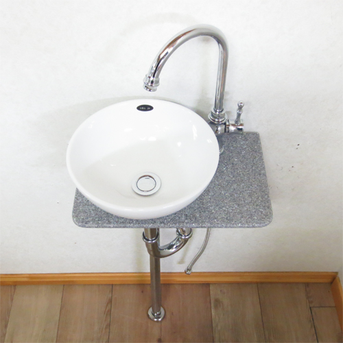 【Eセット20】人工大理石の手洗い器セット(洗面台・陶器・省スペース・人工大理石) INK-0502009Hset