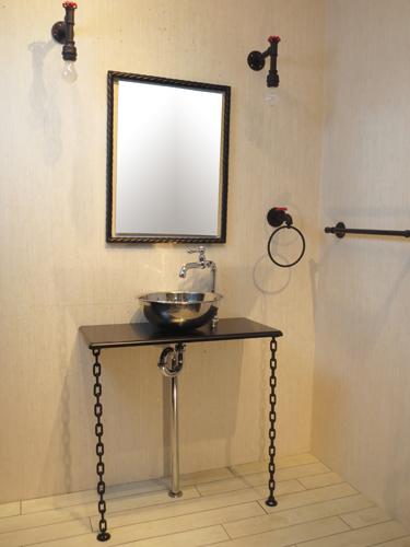 洗面化粧台セット W750×D350|スチームパンク【SMP-4】