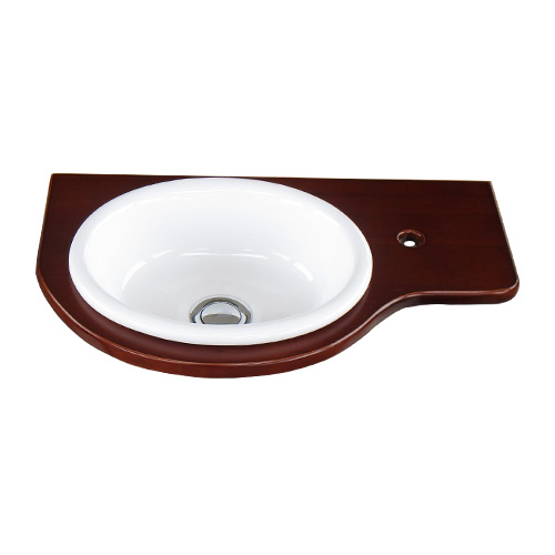 天板 カウンター 洗面ボウルセット 木製板 ダークブラウン W450×D270×T17 INK-0504080H