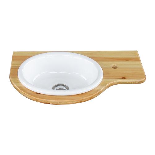 洗面ボウル付き木製板(自作・木材・化粧台・おしゃれ・インテリア) ナチュラル W450×D270×T17 INK-0504081H
