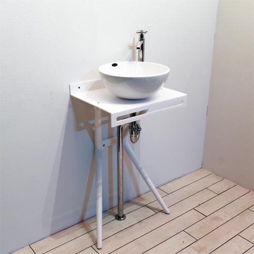 アクリル洗面台セット おしゃれ お得 壁付け 日本製 マットホワイト W450×D340 | 品番【Fセット4】
