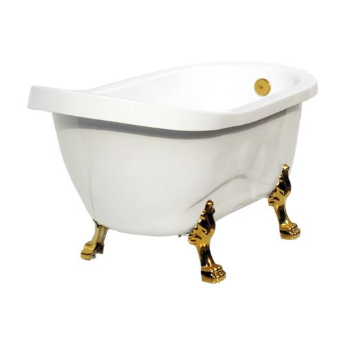 -訳あり商品-猫足バスタブ(置き型・アンティーク風浴槽・ディスプレイ)オーバーフロー無し サイズW1420×D730×H780 INK-ART008