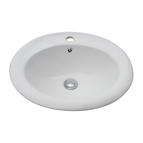 洗面ボウル 陶器 手洗い鉢 洗面台 シンク 埋め込み オーバーフロー有り W475×D415×H190 INK-0401028H