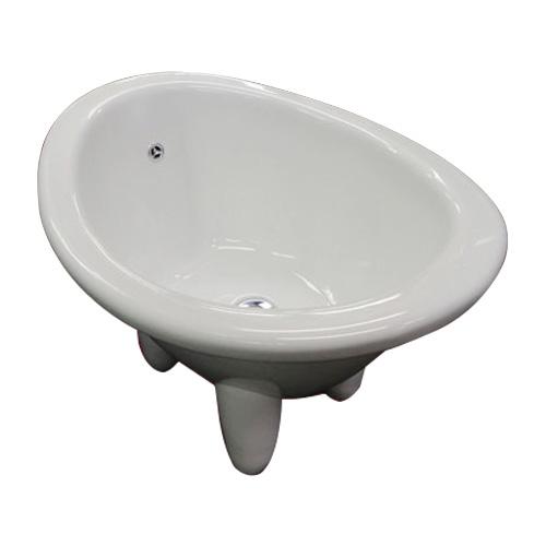 ペット用バスタブ(ドッグバス・ベビーバス・足湯・小型・陶器・装飾・洗面ボウル) INK-0403001H