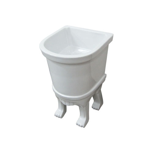 -セール-脚付き洗面ボウル(手洗い鉢・陶器洗面ボール・洗面台・置き型) INK-0403004G