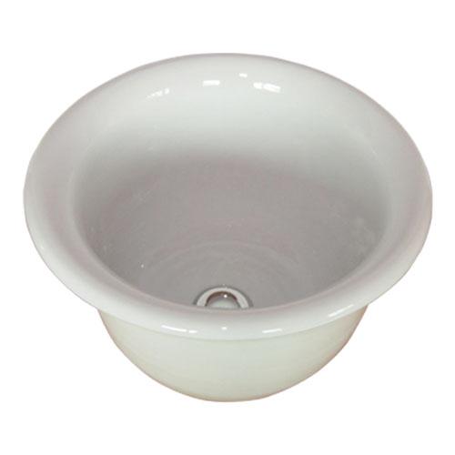 海外限定 和風の丸い陶器の洗面ボウル 洗面ボウル おしゃれ 和風 陶器 丸 手洗い鉢 W355×D355×H215 白 オーバーフロー無し 評価 INK-0403101H