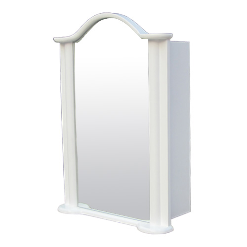 ミラーキャビネット 白 ホワイト 洗面鏡 収納 おしゃれ 左開口 W520×D225×H725 NK-0702010H