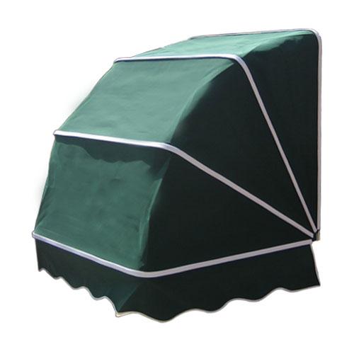 ヨーロッパテイスト・コーベルオーニング(日よけ・雨よけ・おしゃれ)緑色 W970mm×D930mm×H920mm INK-1601007H