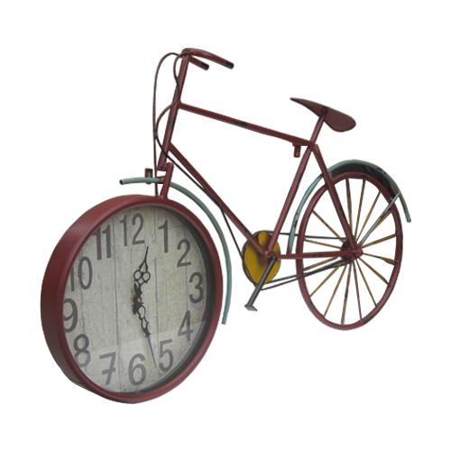 選ぶなら 自転車型アンティーク風壁掛け時計(ウォールクロック・アナログ・インテリア・おしゃれ)赤・レッド INK-1710019H, チャイルドブティックくれよん:7188ac91 --- edu.ms.ac.th