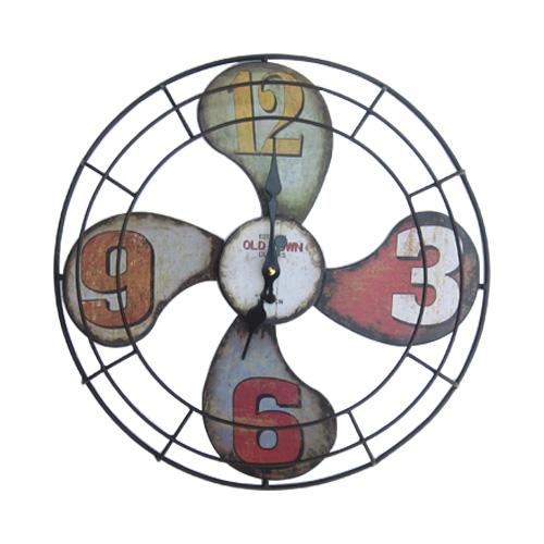 壁掛け時計 扇風機 おしゃれ レトロ インテリア INK-1710020H