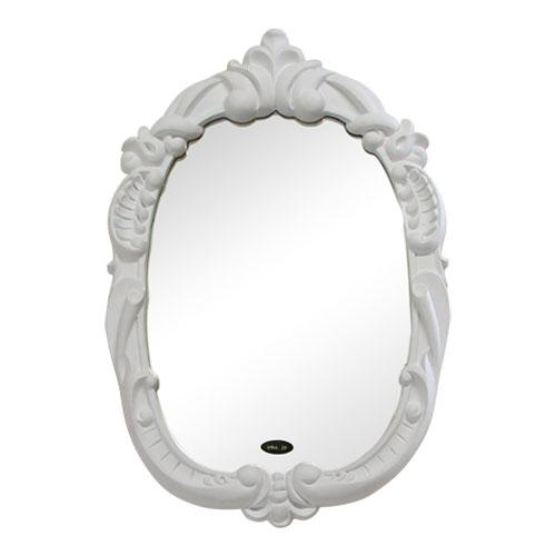 洗面鏡 壁掛け おしゃれ ポリウレタン枠 ミラー INK-PUK1011