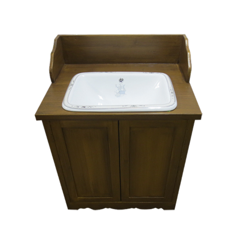 洗面ボウルの柄が選べる洗面化粧台(洗面台・化粧台・木製・エイジング塗装) エイジングゴールド INK-TT138H