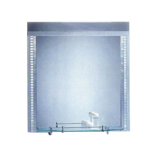 洗面鏡 おしゃれ 棚付き W600 H800 L-CD14-600