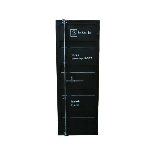 【受注生産品】コンテナドア(外開き・右吊元・内カギ付き・枠付き) 黒・ブラック 品番TT202H