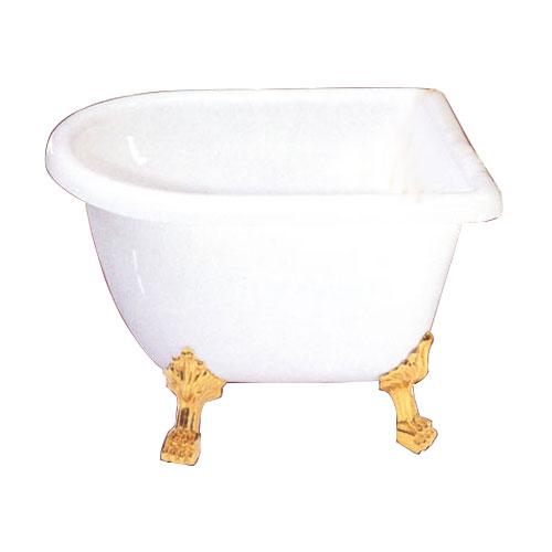 猫足バスタブ(小さい・置き型・簡易浴槽・ディスプレイ・1200サイズ)オーバーフロー無し サイズW1200×D740×H700 INK-0201019H(ART014)