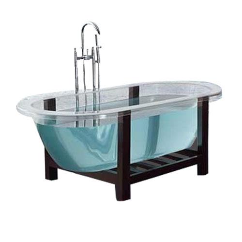 透明バスタブ 置き型 浴槽 多少キズあり サイズW1705×D810×H605 INK-0202001H
