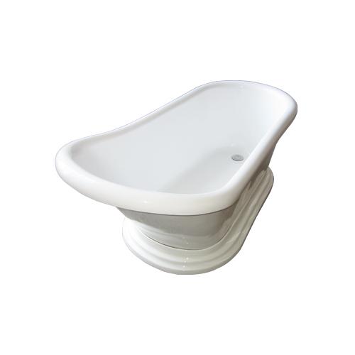 台座バスタブ(INK-0201007H・置き型・浴槽・お風呂) サイズW1500×D720×H655 INK-0203007H