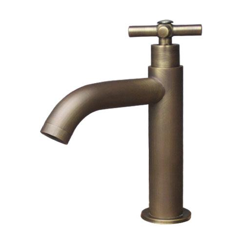 単水栓(蛇口・カラン・おしゃれ・インテリア・水廻り・洗面)古銅 INK-0302071H