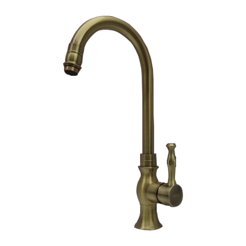 おしゃれな水栓蛇口 買収 混合水栓 本日限定 蛇口 カラン 古金 INK-0303058G