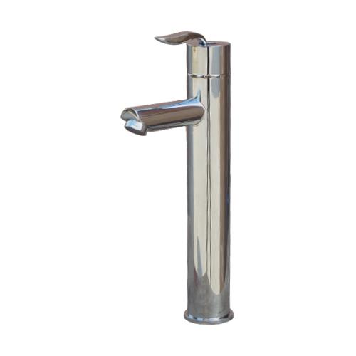 背の高いシングルレバー混合水栓 国内送料無料 蛇口 おしゃれ 高い素材 洗面 モダン シルバー 銀 INK-0303098H ATTA1801 水廻り