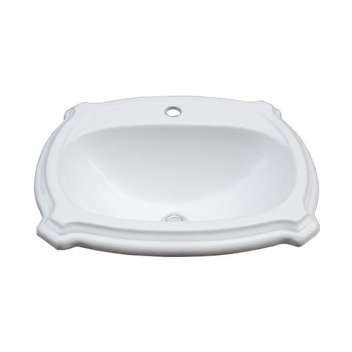 陶器洗面ボウル(洗面器・手洗器・シンク・洗面台・手洗い鉢・洗面ボール・水廻り・おしゃれ・埋め込み) W560×D490×H230 INK-0402024H