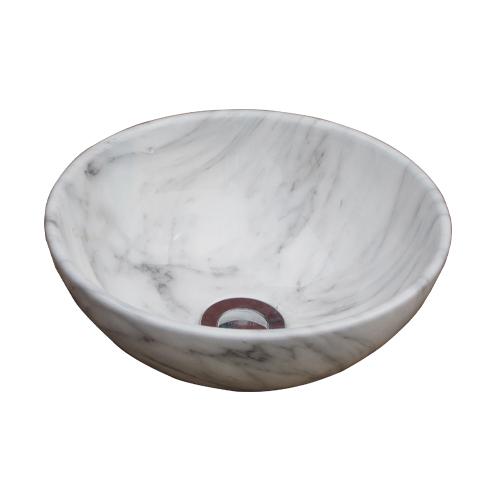 陶器洗面ボウル(手洗い鉢・ボール・オンカウンターシンク) W280×D280×H120 INK-0403214H