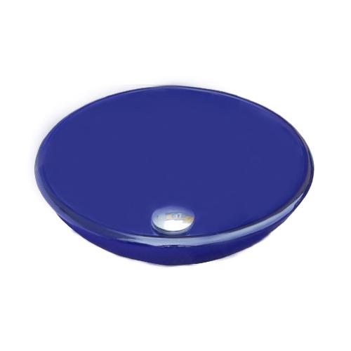 ガラス洗面ボウル(青・ブルー) W420×D420×H140 INK-0404052G