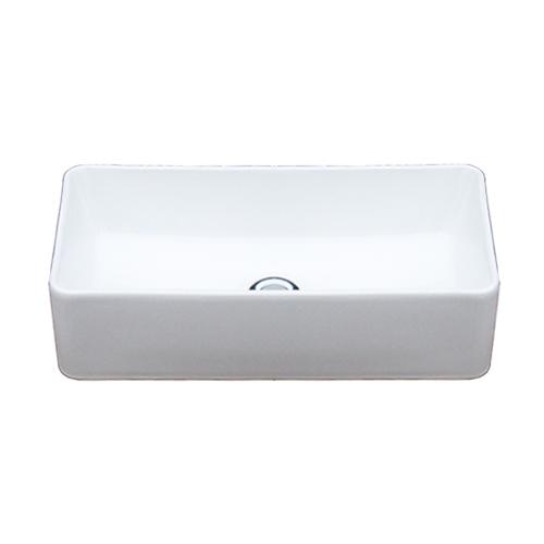 小さい 洗面ボウル 手洗器 手洗い鉢 洗面ボール 置き型 オーバーフロー無し W460×D230×H120 INK-0405070H