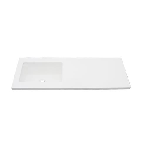 洗面ボウル 人工大理石 埋め込みタイプ オーバーフロー無し 白 ホワイト W1200×D450×H135   品番INK-0413038H