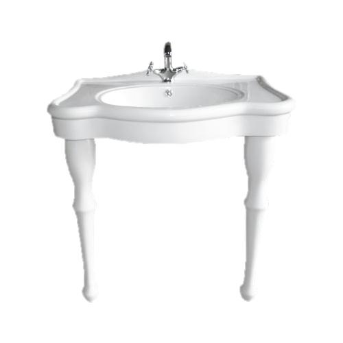 ペデスタルシンク 大きい 洗面台 二本足 陶器 W820 INK-0505004G