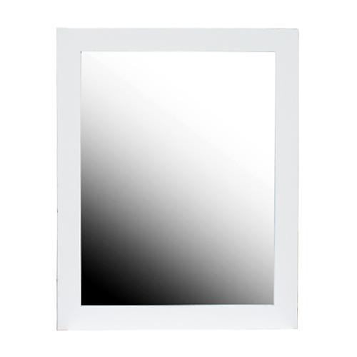 シンプルフレーム鏡(壁掛け・ミラー・洗面鏡)白・ホワイト W600×H750×T15 INK-0701008H