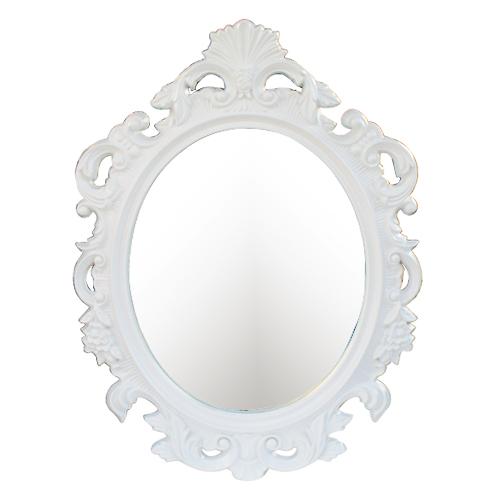 洗面鏡 壁掛け おしゃれ デコレーション フレーム 白 ホワイト W700×H930×T45 INK-0701011H