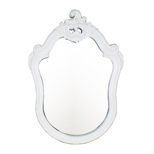洗面鏡 ミラー おしゃれ 壁掛け フレーム付き PVC 白 ホワイト W550×H775×T75 INK-0701012H