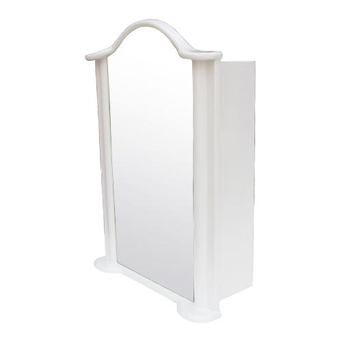 ミラーキャビネット(右開口) (洗面所・水まわり・鏡・収納・インテリア・おしゃれ・PVC) 白・ホワイト INK-0702009H  W520×D225×H725