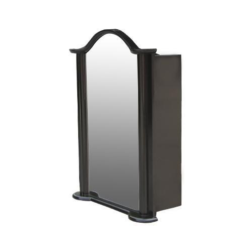 ミラーキャビネット(右開口) (洗面所・水まわり・鏡・収納・インテリア・おしゃれ・PVC) 黒・ブラック INK-0702011H  W520×D225×H725