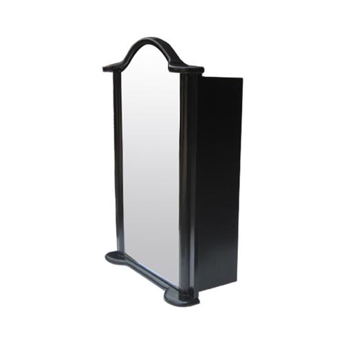 ミラーキャビネット(左開口) (洗面所・水まわり・鏡・収納・インテリア・おしゃれ・PVC) 黒・ブラック INK-0702012H  W520×D225×H725