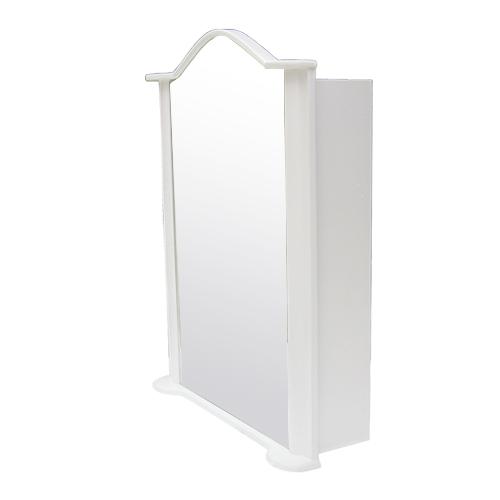 ミラーキャビネット(左開口) (洗面所・水まわり・鏡・収納・インテリア・おしゃれ・PVC) 白・ホワイト INK-0702014H W670×D230×H930