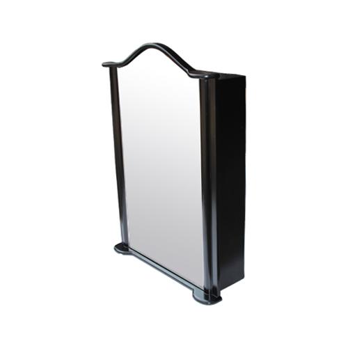 ミラーキャビネット(左開口) (洗面所・水まわり・鏡・収納・インテリア・おしゃれ・PVC) 黒・ブラック INK-0702016H W670×D230×H930