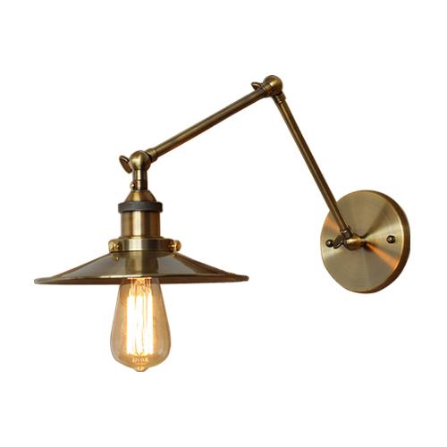 可動式ウォールランプ(間接照明・ブラケットランプ・アンティーク・おしゃれ・インテリア)古金 INK-1001030H