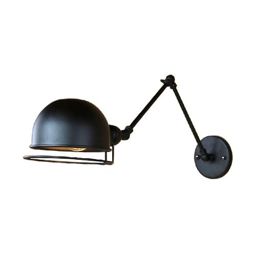 可動式ウォールランプ アーム おしゃれ インテリア 黒・ブラック INK-1001050H