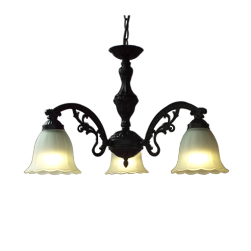 シャンデリア おしゃれ 黒 アイアン インテリア照明 ランプ ライト 室内用 INK-1003001H